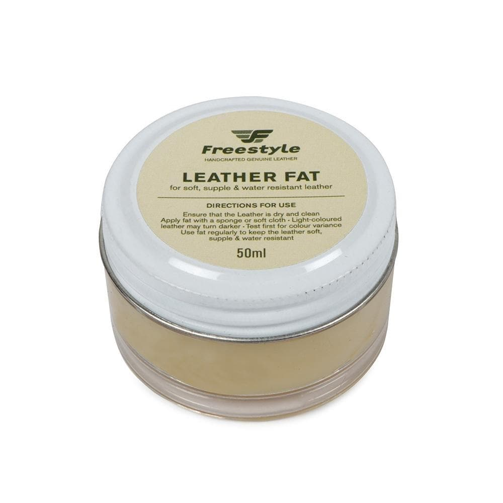 Leather Fat 50ml Natural - Freestyle SA Proudly local leather boots veldskoens vellies leather shoes suede veldskoens