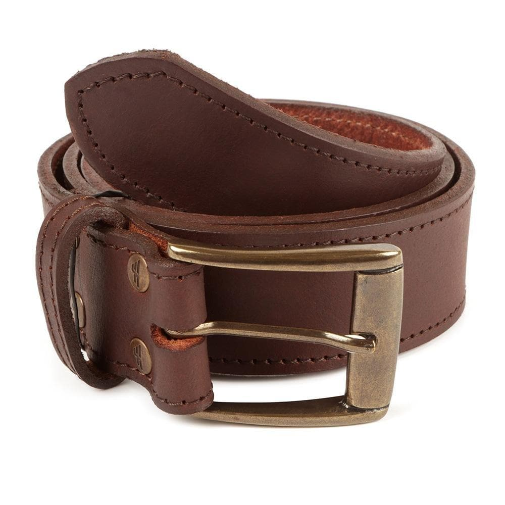 Men's Stitched Premium Full Grain Leather Jeans Belt - Freestyle SA Proudly local leather boots veldskoens vellies leather shoes suede veldskoens