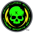Fractured Skull Xtreme Metallic Blue on Light Green Tee