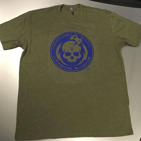 Blue on Fatigue Green FSX Tee