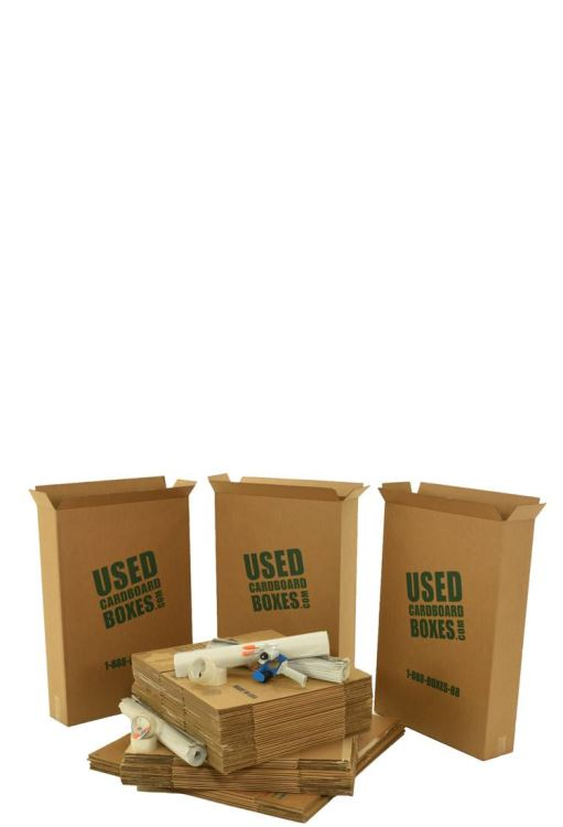 2 bedroom moving kit, assembled with quality inspected, used moving boxes. Built by UsedCardboardBoxes.