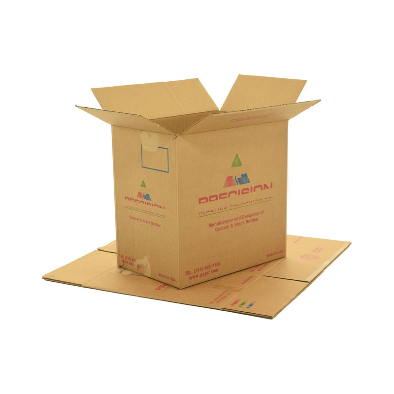 X-Large (XL) sized used moving and storage boxes shown assembled and flattened which are included in a Studio or Dorm Room Moving Kit (BASIC) by UsedCardboardBoxes.