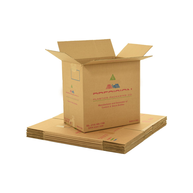 X-Large (XL) sized used moving and storage boxes shown assembled and flattened which are included in a 4 Bedroom Moving Kit by UsedCardboardBoxes.