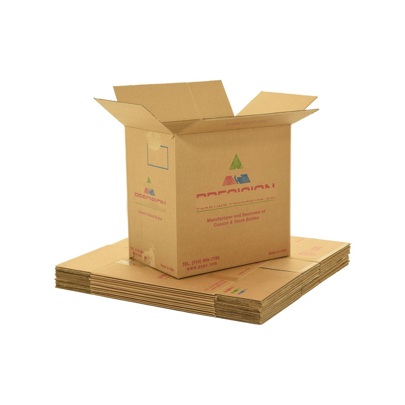 X-Large (XL) sized used moving and storage boxes shown assembled and flattened which are included in a 6 Bedroom Moving Kit by UsedCardboardBoxes.