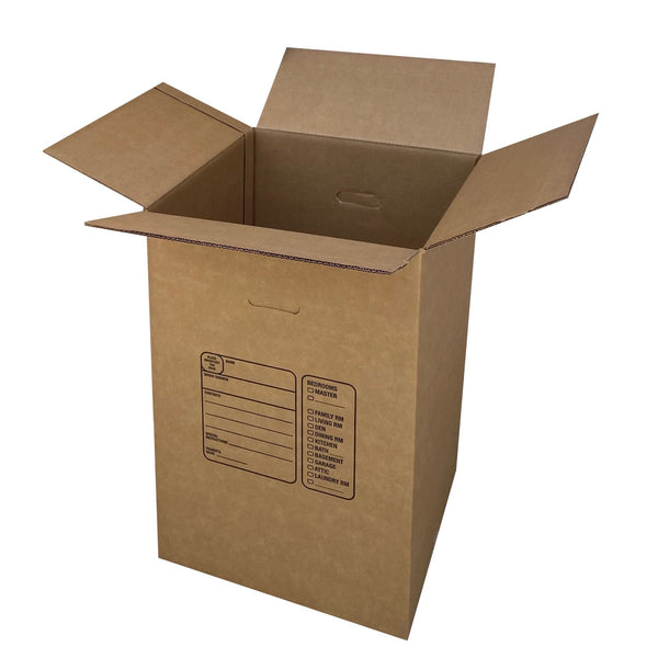 Brand New Kitchen Moving Boxes, double wall construction on all sides for added strength and protection, by UsedCardboardBoxes. Pack of 4.