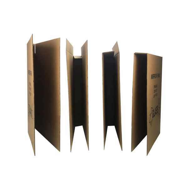 "Brand New Picture/Mirror Moving Boxes, which come in a bundle of 12, can be used to make 6 enclosed boxes measuring 30""x40"" or 3 enclosed boxes measuring 60""x40"", by UsedCardboardBoxes."