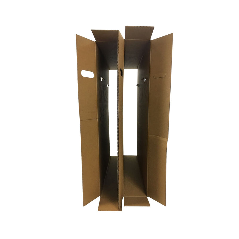 Brand New Flat Screen TV Boxes (2-pack) by UsedCardboardBoxes. Inside and opened view.
