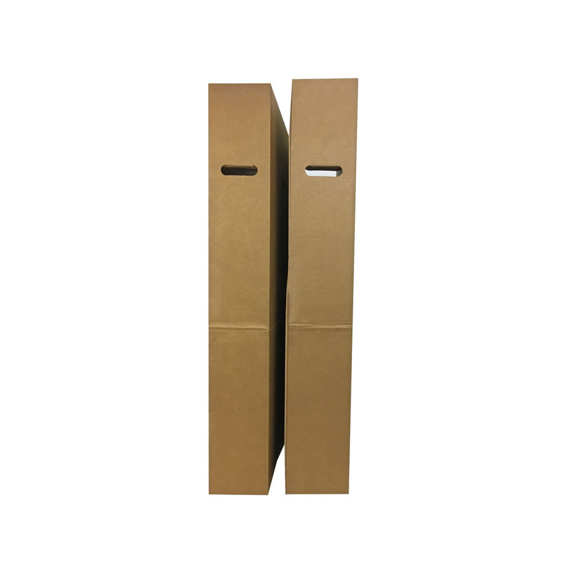 Brand New Flat Screen TV Boxes (2-pack) by UsedCardboardBoxes. End view with handles.