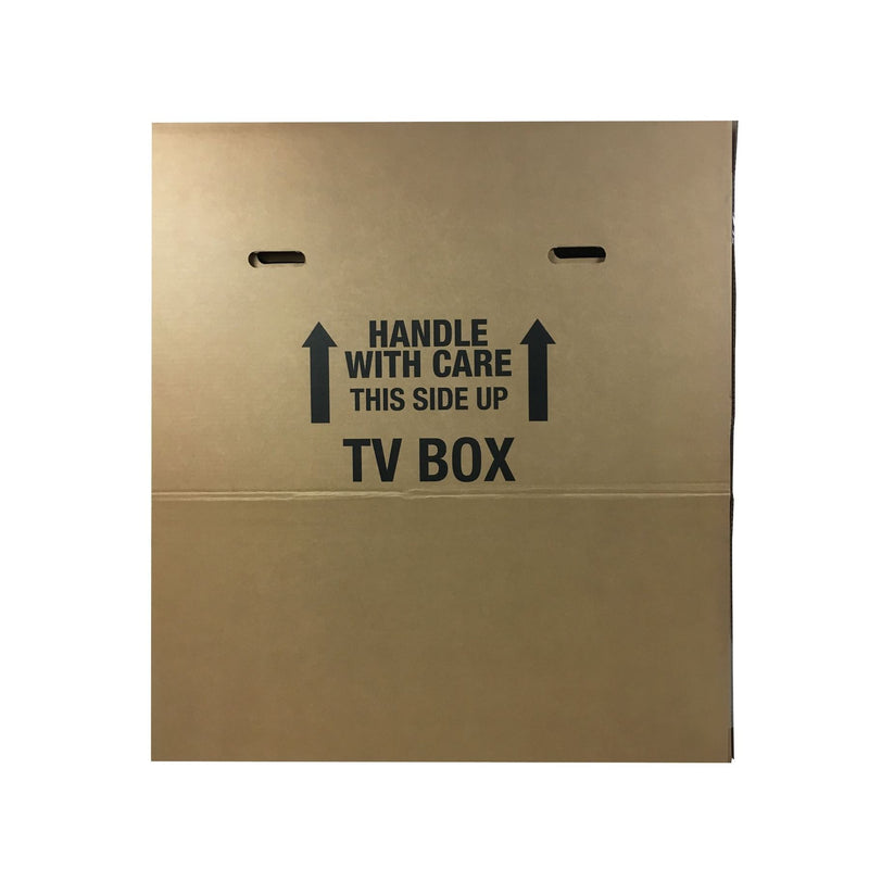 Brand New Flat Screen TV Boxes (2-pack) by UsedCardboardBoxes. Side view.