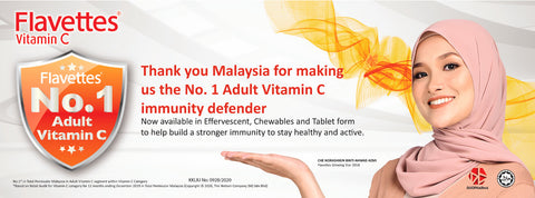 Flavettes 维C泡腾片值得信任 | Flavettes 维C泡腾片评论 | iPharmaHome Pharmacy Online Malaysia