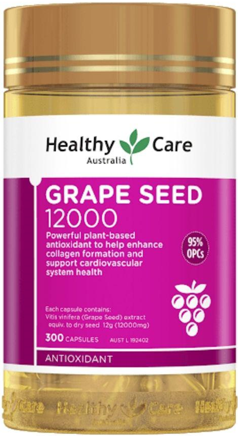 HEALTHY CARE Grape Seed 12000 (300 capsules)