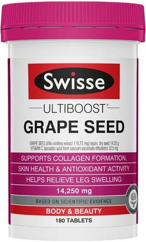 SWISSE Grape Seed 14250MG (180 tablets)