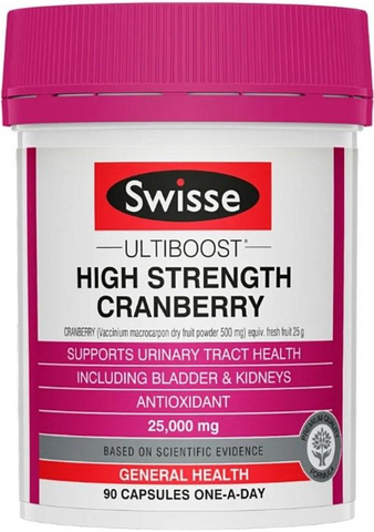 SWISSE High Strength Cranberry 25000MG (90 capsules)