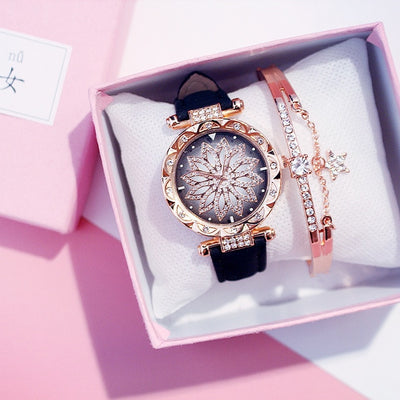 Women Watches Bracelet set