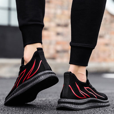 Men Sneakers Mesh Casual Shoes Lac-up