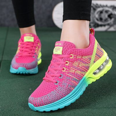 Women Casual Shoes Mesh Air-Cushion Flat