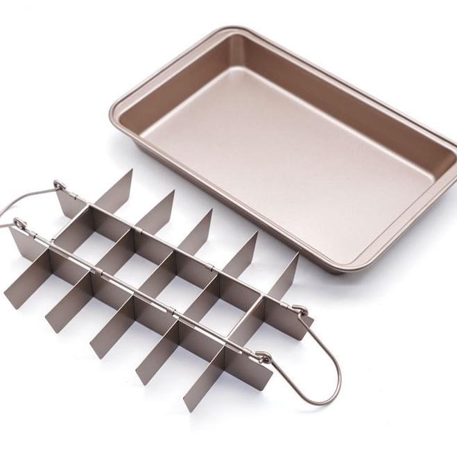 Non-Stick Brownie Pan, With Partitioning