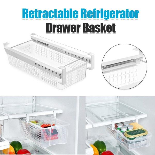 Retractable Refrigerator Drawer Basket Fridge Mate Push In Storage Box