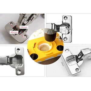 👍35mm Hinge Drilling Jig Woodworking Tool Set - convenient hinge hole drilling