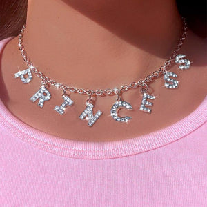 Sparkling Letters Necklace