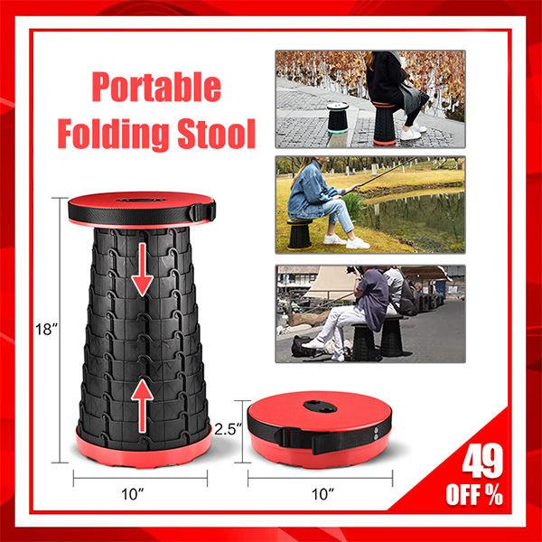 Portable Folding Stool- This Folding Stool Will Blow Your Mind!