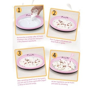 Instant Ice Cream Maker Pan-create healthy ice cream with your favorite flavors
