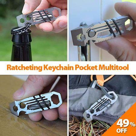 Limited Quantity Ratcheting Keychain Pocket Multitool