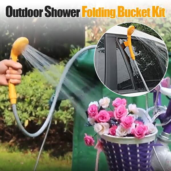 Outdoor Shower Folding Bucket Kit-49%OFF