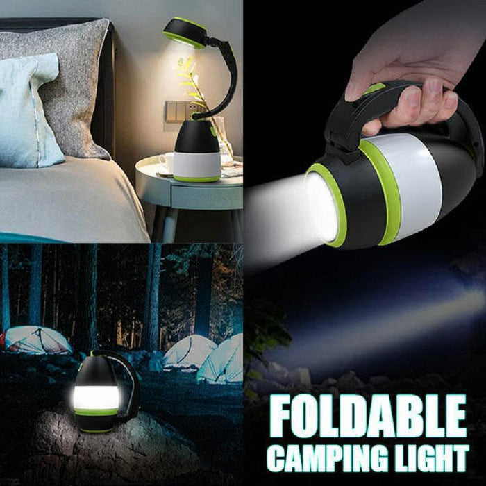 Foldable Camping Lantern With 2400mAh 3 Flash Modes Rechargeable Battery