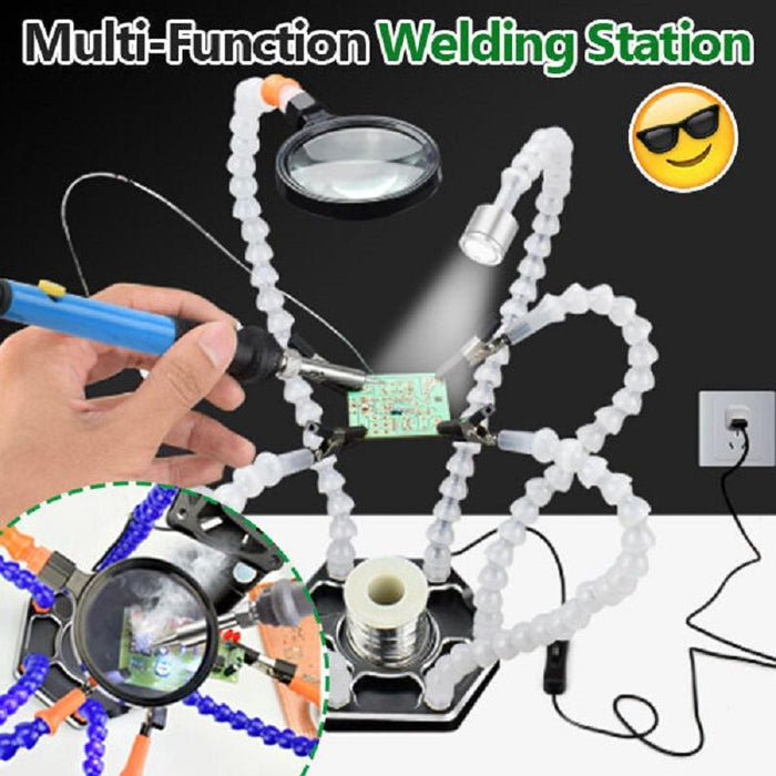 Multi-Function Welding Station With Universal Arm - Powerful And Suitable For Multiple Scenarios