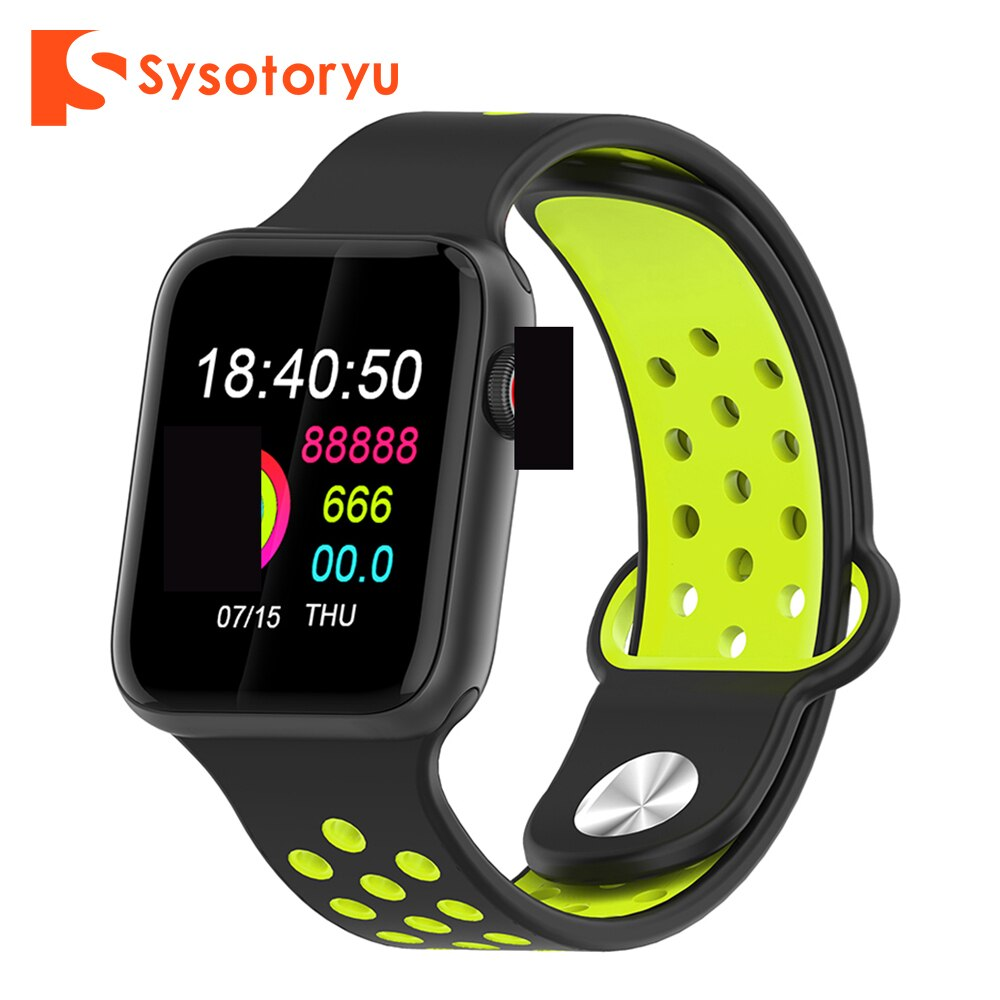 SYSOTORYU Smart Watch Detachable Strap Heart Rate Blood Pressure Monitor Smartwatch Pedometer Bracelet for Android Apple Phone