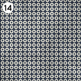 14 Black White Button Print