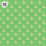 18 Green Scallop Print