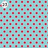 23 Blue Red Star Print