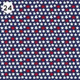 24 Dark Blue Star Print