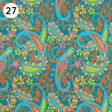27 Multi Coloured Paisley Print