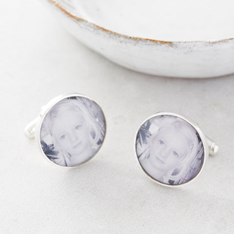 Personalised photo cufflinks by Under The Rose