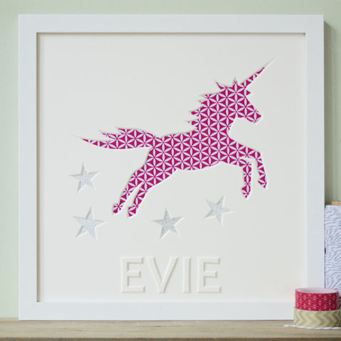 Framed Unicorn Cut-Out Picture