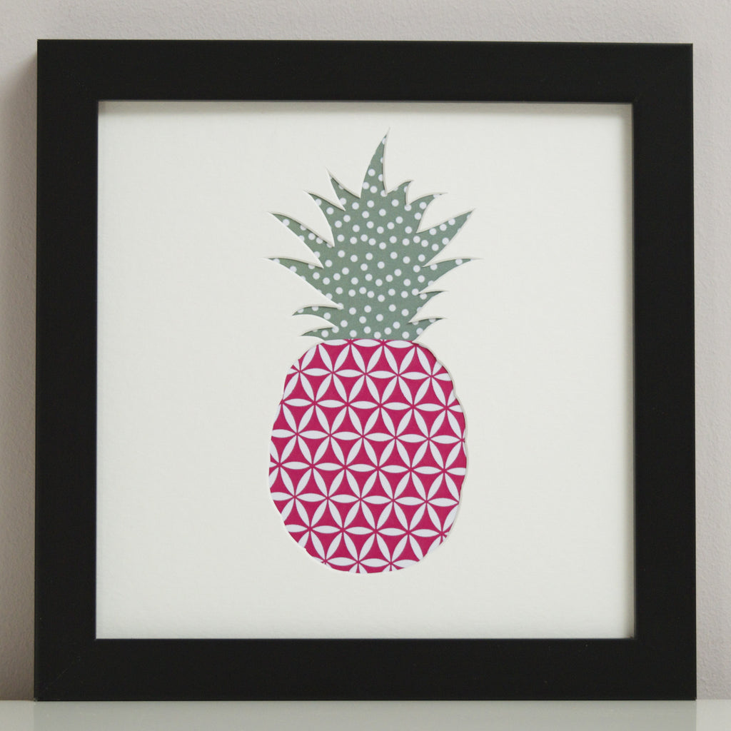 Outshine Art's Pineapple cut-out art picture.