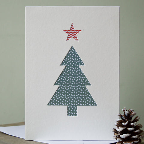 Christmas Tree Cut-Out Card