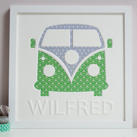 Framed Campervan Cut-Out Artwork