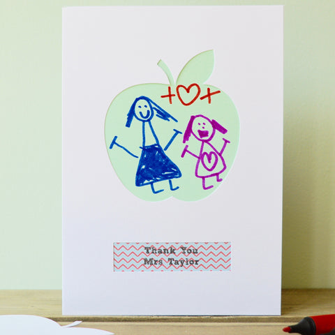 Personalised Child's Art Teacher Thank You Card