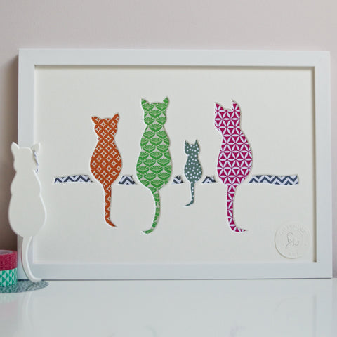 Cat and Kitten Cut-Out Artwork