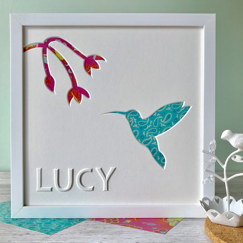 Personalised Hummingbird Artwork