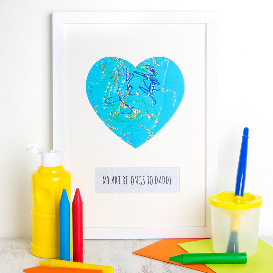 Frame your child's drawing for Father's Day.