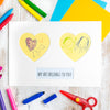 Double Heart Child's Art Picture Kit