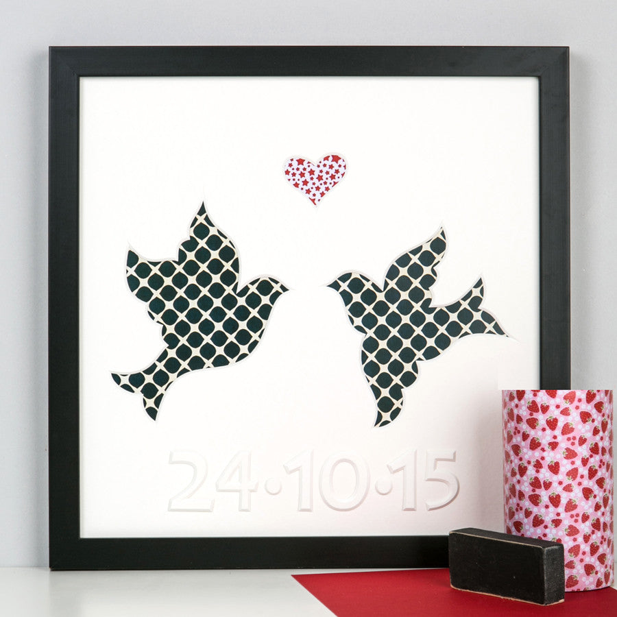 Personalised Doves Artwork
