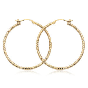 Gold Twist Hoop