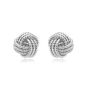 Sterling Silver Twisted Love Knot Studs