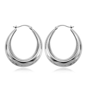 Sterling Silver Shell Hoop